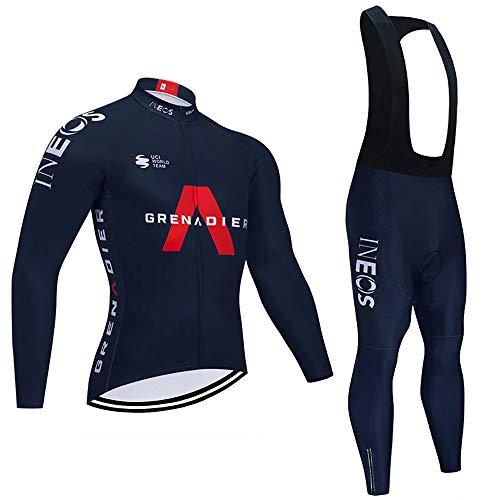 Completi Ciclismo Squadre Lunga Maglia Ciclismo Uomo Pantaloni Lunga Set di Abbigliamento Ciclismo Uomo Primavera Traspirante (Opzionale)