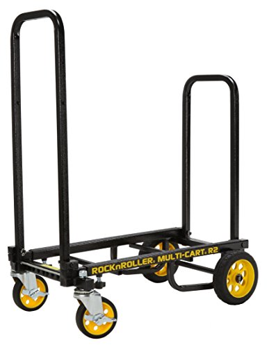 Rock-N-Roller R2RT (Micro) 8-in-1 Folding Multi-Cart/Hand Truck/Dolly/Platform Cart/26' to 39' Telescoping Frame/350 lbs. Load Capacity, Black