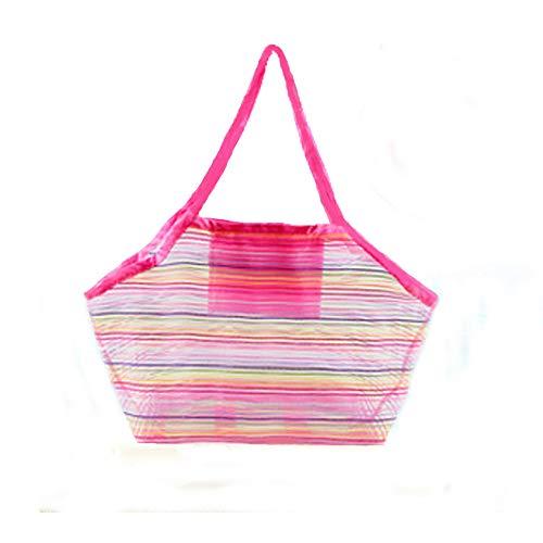 Afufu Sandspielzeug Netztasche, Große Strandtasche, Wiederverwendbare Faltbare Aufbewahrungstasche, gut für den Strand Familie Kinder Spielen