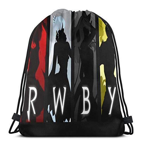 XCNGG RWBY-2 Bolso con cordón Unisex Fitness School Sport Bag Classic Impreso diseñado para Hombres Mujeres