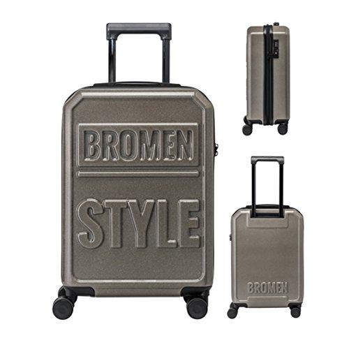 Equipaje Lyl Bolsa Ligera TSA Lock Trolley Maleta Dura de la PC de Viajes Shell Carry On Lugg (Color : Black, Size : 20 Inch)