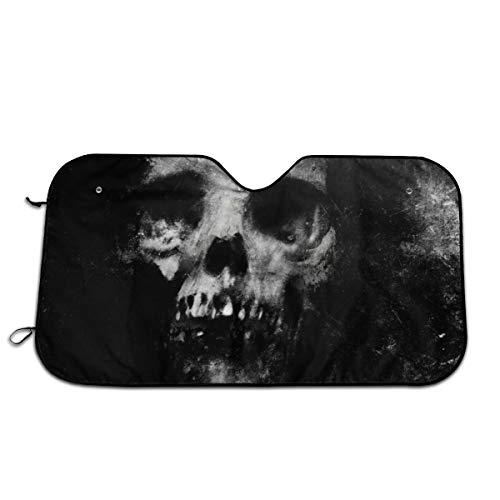TPSXXY-WS Scary Halloween Spooky Skull Horror Windshield Sunshade for Car SUV Truck Foldable UV Ray Reflector Front Window Sun Shade Visor Shield Cover