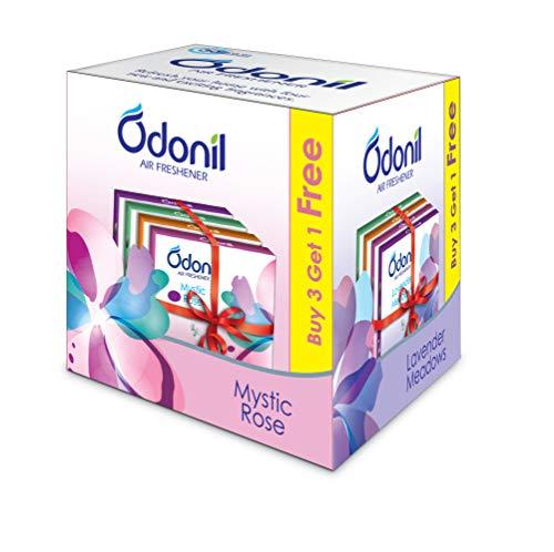 Odonil Bathroom Air Freshener Blocks, Mixed Fragrances - 50gm (Buy 3 Get 1 free)