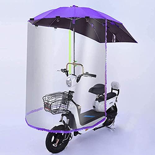 NIHE Parapluie de Scooter entièrement fermé, Auvent de Parapluie de Voiture électrique Housse de Pare-Soleil électrique étanche pour Moto