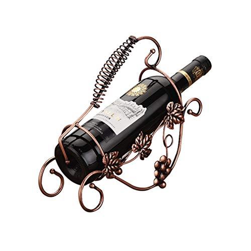 Soporte para botellero, soporte para vino de hierro creativo Soporte para botella de vino individual Decoración de adorno retro para decoración del hogar (Tamaño: 26.5 * 9.5 * 23.5cm) (Color: # 2)