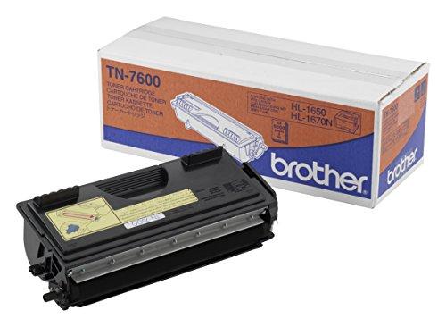 Brother Original Tonerkassette TN-7600 schwarz (für Brother HL-1650, HL-1670N, DCP-8020, DCP-8025D, DCP-8025DN, HL-1850, HL-1870N, HL-5030, HL-5040, HL-5050, HL-5070N, MFC-8420, MFC-8820D, MFC-8820DN)