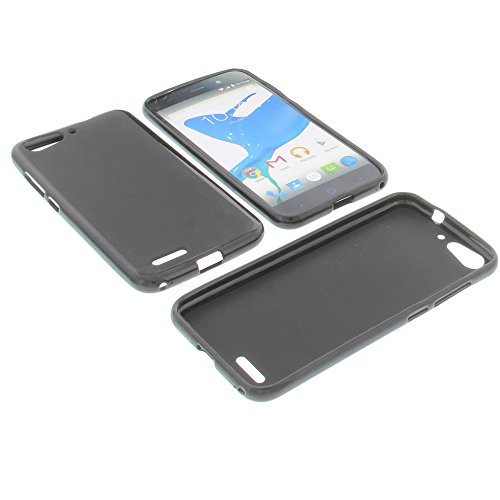 foto-kontor Tasche für ZTE Blade V6 Gummi TPU Schutz Hülle Handytasche schwarz