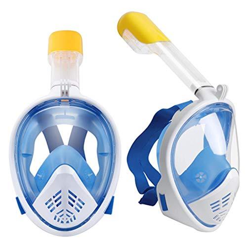 YHYSJ Máscara de Buceo Submarino Antiniebla Máscara de Buceo de Cara Completa Conjunto de Snorkel con Anillo Antideslizante Snorkel