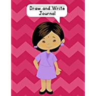 Draw and Write Journal: Composition Notebook for Kids - Paper With Primary Lines and Half Blank Space for Drawing Pictures - 140 Pages - Girl Design #4