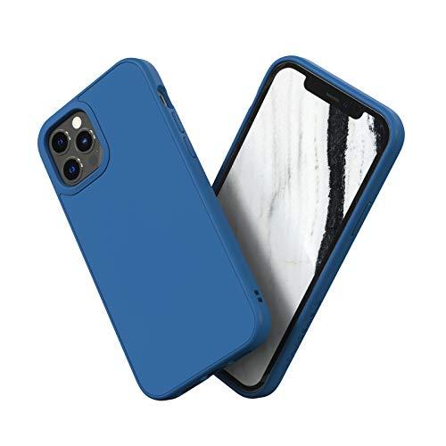 RhinoShield Coque Compatible avec [iPhone 12/12 Pro] | SolidSuit - Housse Fine avec Technologie Absorption des Chocs & Finition Premium - Bleu Roi