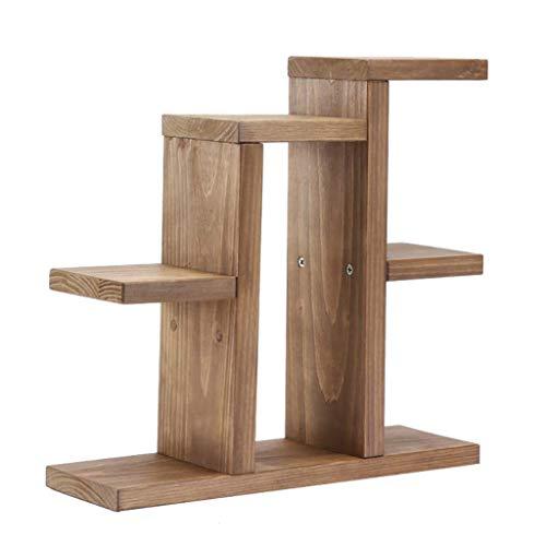 YINUO Support de bureau en bois massif pour bureau en bois massif Rack de balcon, fenêtre, bac à fleurs