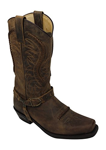 Sendra Cowboystiefel 3434 in braun incl. Roy Dunn´s Lederfett (46)