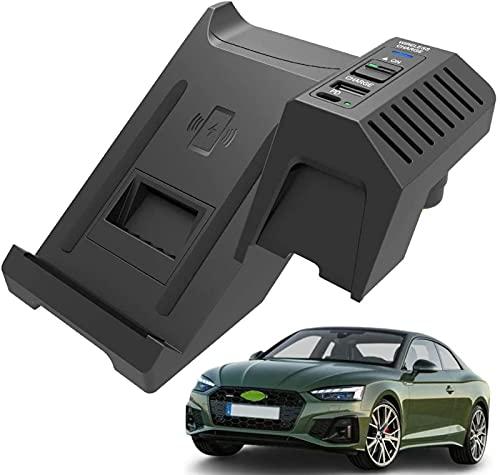 Cargador de Coche Inalámbrico Para Audi A4 S4 RS4 A5 S5 RS5 2017-2021 Panel de Consola Central, Soporte Para Teléfono de Carga Rápida Qi de 15W con USB y Almohadilla de Carga Inalámbrica PD de 18W