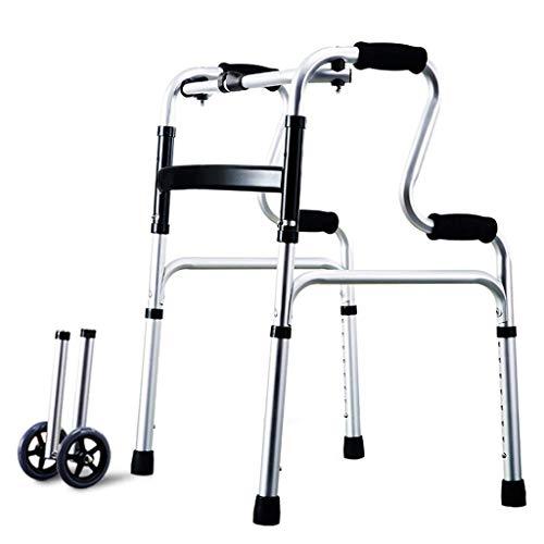 Z-SEAT Faltbare Rollator Assistive Walkers für Erwachsene 4-Bein-Krücke | Aluminiumlegierung |Einstellbare Höhe 70-88cm |Maximale Belastung 160 kg