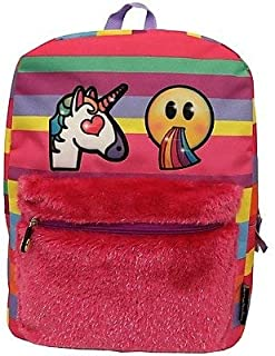 Cute, Colorful Unicorns Emoji Back Pack Stripped