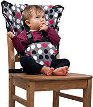 The Original Easy Seat Portable High Chair (Polka Dot) - Quick, Easy, Convenient Cloth Travel High Chair Fits in Your Hand Bag for a Happier, Safer Infant/Toddler