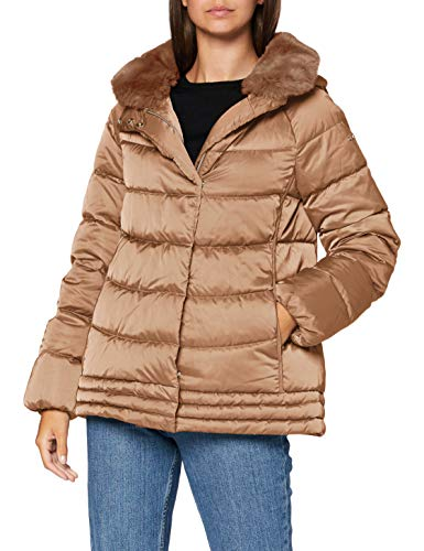 Geox Womens W CHLOO Parka, Outer Coconut, 38