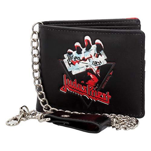 Nemesis Now Judas Priest British Steel Geldbörse, PU, Schwarz, Einheitsgröße