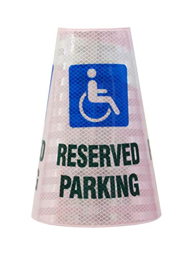 """RK Safety """"Reserved Parking with Handicapped"""" Bright Reflective Cone Message Sleeve, 2 Piece [Cone Not Included]"""