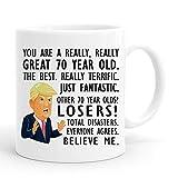 joey 70th Birthday Gift Trump Mug,11 Ounces, Funny Donald Trump Gag Coffee Mugs,1949 70 Year Old Birthday Gifts for Her, Friend, Mom, Sister, Wife, Grandma,Coworker