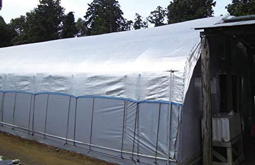 ダイオ化成 遮光シート ダイオミラー 農業ハウス用 遮光率約60〜65% 銀/黒 巾2m×長さ50m 60HB-6