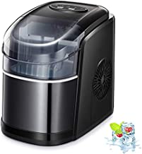 Kismile Counter top Ice Maker Machine with Self-cleaning, 26LBS/24H Compact Automatic Ice Makers,9 Cubes Ready in 6-8 Minutes,Portable Ice Cube Maker, Perfect for Home/Kitchen/Office/Bar (Black)