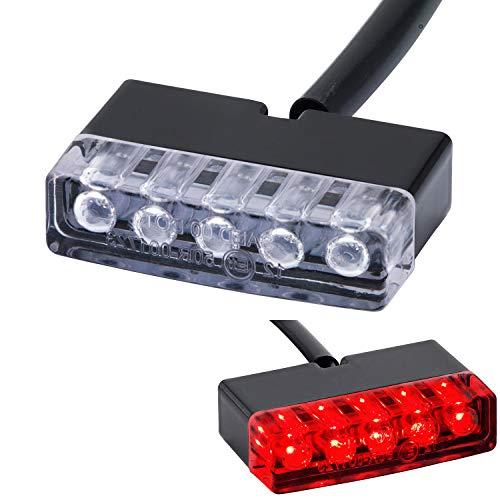 LED Mini Motorrad universal Rücklicht Shorty Rückleuchte Heckleuchte schwarz