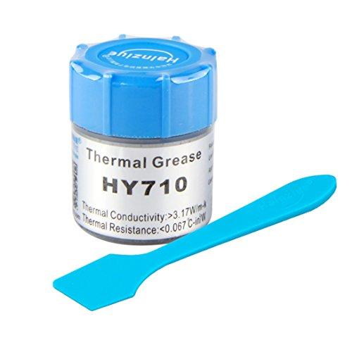 HALNZIYE HY710 - Pasta térmica en bote de 10 g, gris > 3,17 W/m-K, rango de temperatura -30 + 240 °C, contenido total 10 g, grasa térmica para enfriamiento