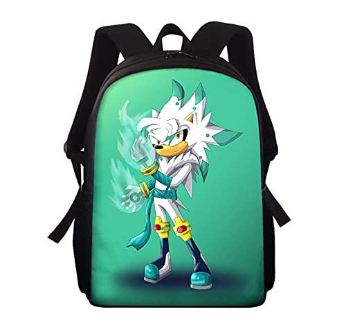 Mochila escolar Sonic Mini mochila para niños, niñas, dibujos animados, Anime, Sonic, mochila escolar impresa, Mochila informal de 13 pulgadas, Mochila Escolar