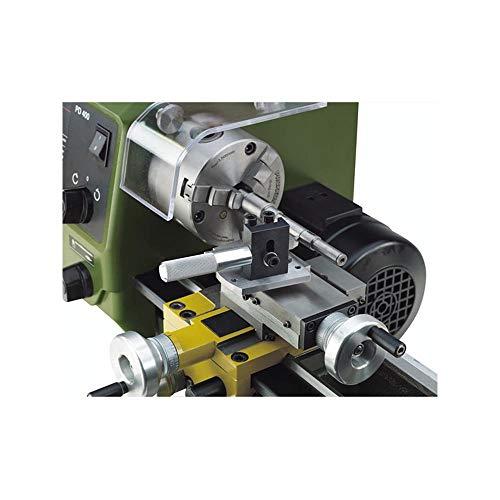 Proxxon 24062 Radiendreheinrichtung, zum Einsatz bei FD 150/E, 250/E, PD 400 und älteren Drehmaschinen, Grundplatte 67 x 50 x 55 mm, Spitzdrehstahl: 8 x 8 x 80 mm