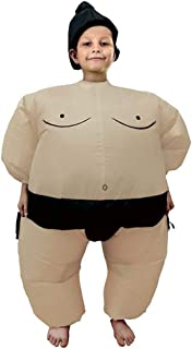 Inflatable Costumes Adult/Kids,Halloween Japanese Samurai Wrestler Wrestling Suits Blow up Cosplay Costume