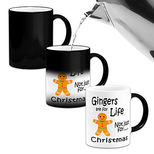 Gingers are for Life Not Just for Christmas Funny Heat Colour Changing Mug