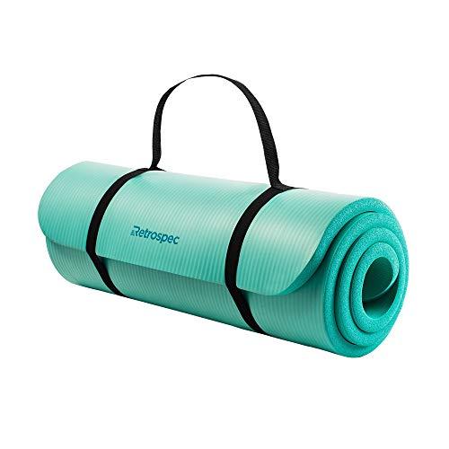 Retrospec Solana Yoga Mat 1' Thick w/Nylon Strap for Men & Women - Non Slip Excercise Mat...