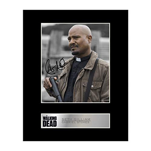 Signiertes Foto von Seth Gilliam, Gabriel Stokes, The Walking Dead #1, signiertes Geschenk, Fotodruck
