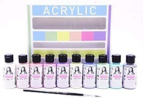 Chalky Akrilik 40ml Pastel Renkler (10 Renk) Fırça Hediyeli