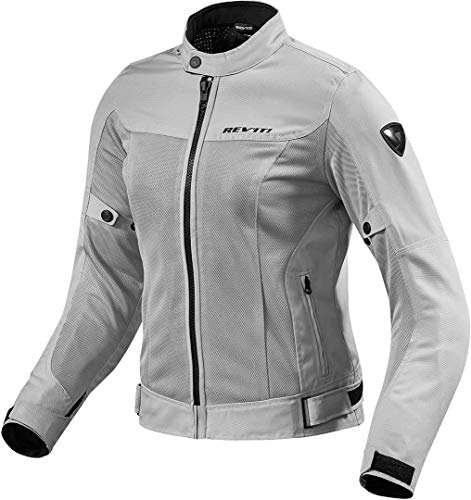 FJT224 - 0170-L42 - Rev It Eclipse Ladies Motorcycle Jacket 42 Silver (UK 14)