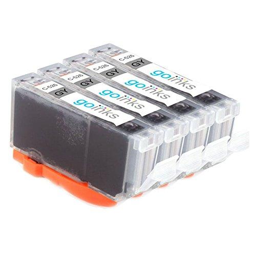 Go Inks C-521GY compatibele grijze inktcartridge ter vervanging van Canon CLI-521GY voor gebruik met Canon PIXMA printers (Pack van 4)