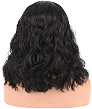 Asdfnfa Charming Women's Long Curly Full Hair Wig (Black)