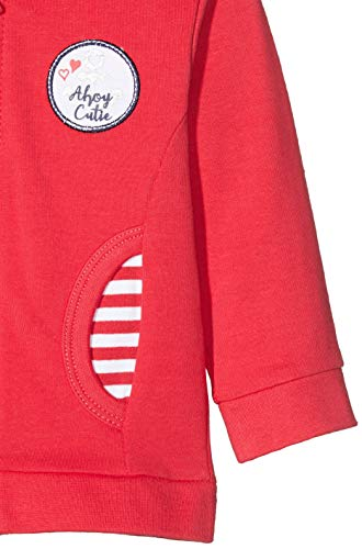 Salt & Pepper Mit Kapuze Und Maritimem Badge Sudadera, Rojo (Lollipop Red 344), 62 para Bebés