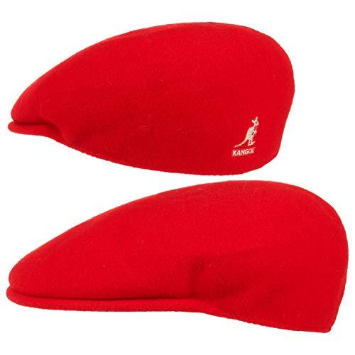 Kangol Herren Damen Mütze Schirmmütze Flatcap Original 504 | Schlägermütze mit Kultstatus 0258BC Schirmmütze Mütze (M/56-57 - rot)