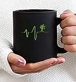 N\A Taza de café Divertida Taza de té para Hombres Mujeres Taza de café Divertida Taza de té Vegano Latido del corazón Vegano Vegano, Vegetariano Vegano 11oz para Hombres Mujeres Niños