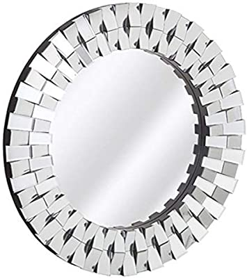 Venetian Design Glass Wall Mirror |30 Inches Diameter| Made in India