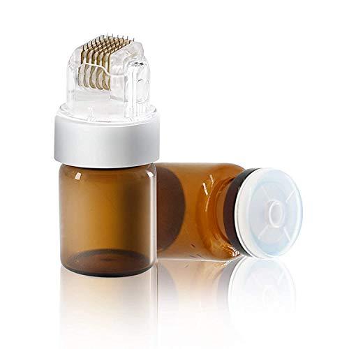 Dermaroller Koi Beauty 42 ECHTE NADELN Professionelles Microneedling für Zuhause Dermastamp 0.5 für Bart Haare Gesicht und Körper Nadelroller für Haar-Bartwachstum Inkl. 1 Kopf und 2 5-ml-Flaschen