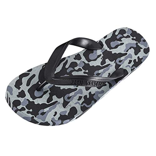 KERULA Hausschuhe Herren Sommer Bequeme Breathable rutschfeste Langlebig Strand Pantoffeln Slipper Flip Flops Badeschuhe Schuhe mit Rutschfester Gummisohle für Drinnen und Outdoor