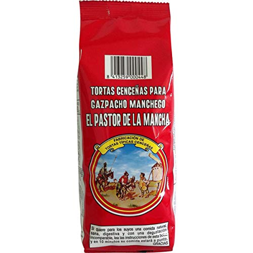 Tortas cenceñas para gazpacho manchego 200 gr. BRUTO 180 gr. peso NETO [PACK 21 BOLSITAS]