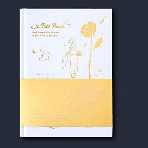 Cuaderno dorado de la serie El Principito Edición de tapa dura de papelería para niños meigui
