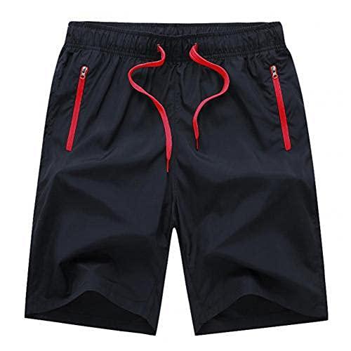 Pantalones Cortos Casual Hombres Verano Hombres Beach Spy, Rojo, Medium