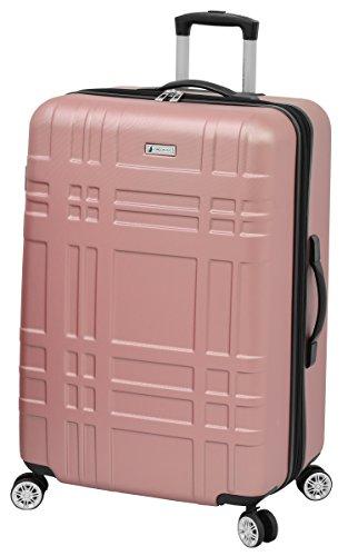 LONDON FOG Hardside Spinner Luggage, Rose Gold, Checked-Large 28-Inch