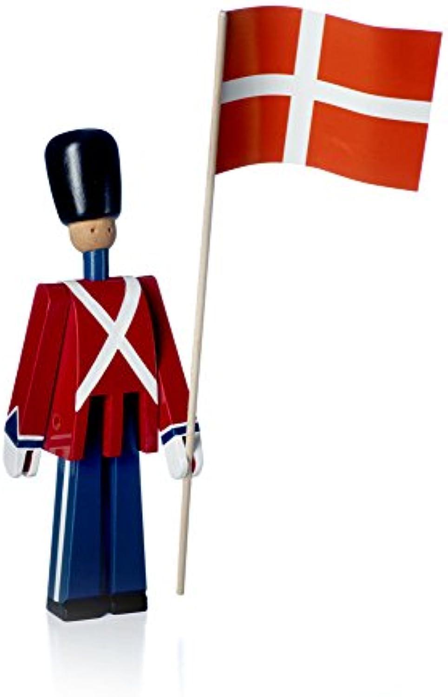 Kay Bojesen Dnischer Gardist Fahnentrger, Holzfigur, Holzsoldat, Dnischer Soldat, Gardist 22,5 cm