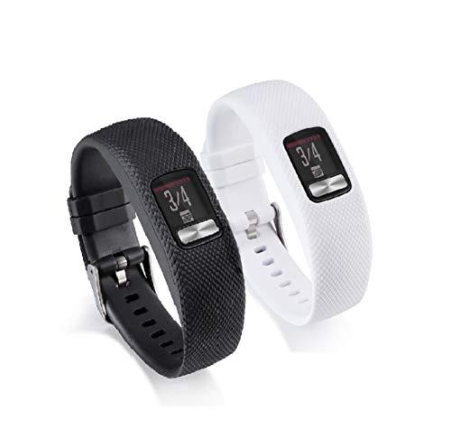 Weinisite Adjustable Replacement Straps Wristband for Garmin vivofit 4 (L, 2)